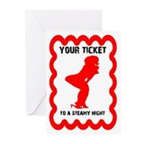 Steamy Night Valentine Cards (Pk of 20)