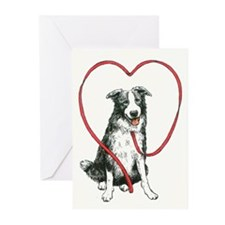 Love Your Border Collie Greeting Cards (Pk of 20)