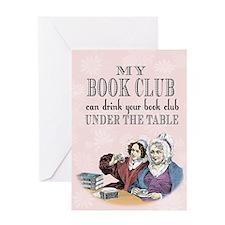 Unique Book club Greeting Card