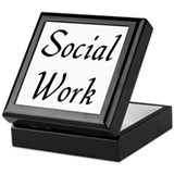 Social Work (black) Keepsake Box