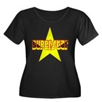 SUPERSTAR Women's Plus Size Scoop Neck Dark T-Shir