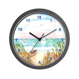 Cute Paradise island Wall Clock