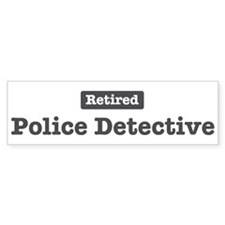 Retired Police Detective Bumper Sticker (10 pk)