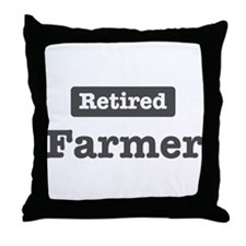 Retired Farmer Throw Pillow
