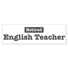 Retired English Teacher Bumper Car Sticker