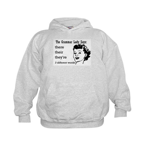 Their, They're, There Kids Hoodie