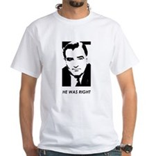 "Joe McCarthy ""HE WAS RIGHT"" T-Shirt (Whi"