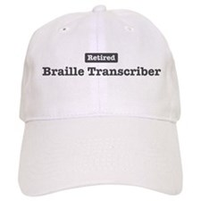 Retired Braille Transcriber Baseball Cap