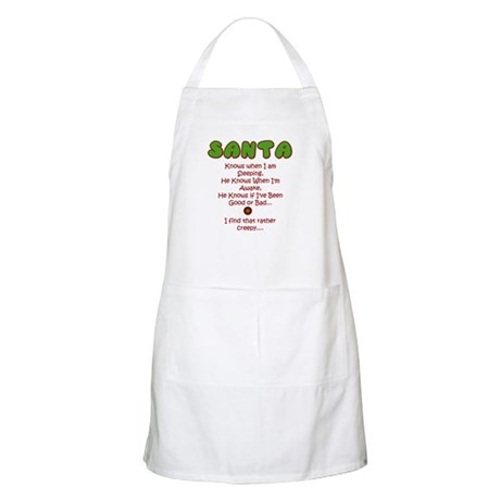 Creepy Santa BBQ Apron