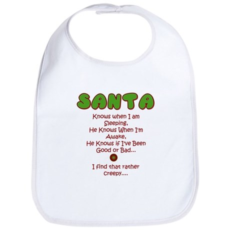 Creepy Santa Bib