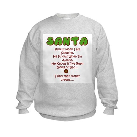 Creepy Santa Kids Sweatshirt