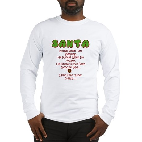 Creepy Santa Long Sleeve T-Shirt
