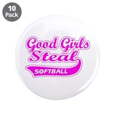 "Good Girls Steal (pink) 3.5"" Button (10 pack)"