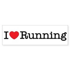 I Love Running Bumper Bumper Sticker