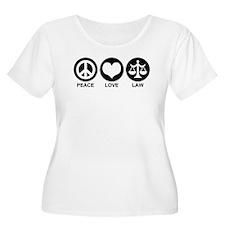 Peace Love Law T-Shirt
