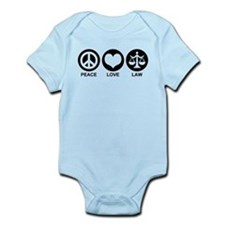 Peace Love Law Infant Bodysuit