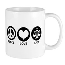Peace Love Law Coffee Mug