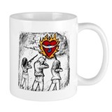 Flaming Heart - Small Mug