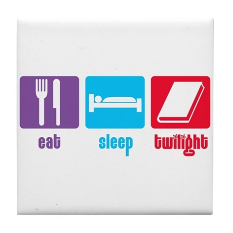Eat Sleep Twilight Tile Coaster