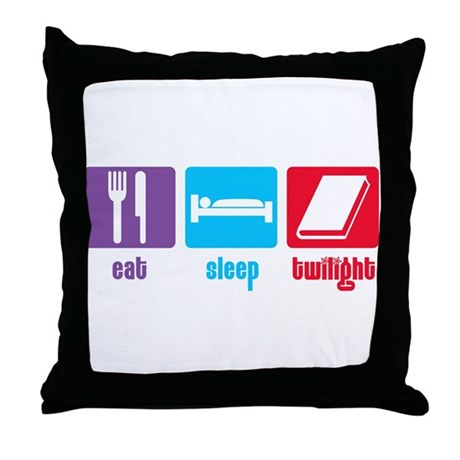 Eat Sleep Twilight Throw Pillow
