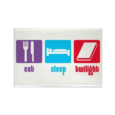 Eat Sleep Twilight Rectangle Magnet
