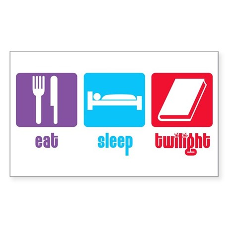 Eat Sleep Twilight Rectangle Sticker