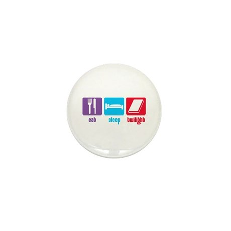 Eat Sleep Twilight Mini Button (10 pack)