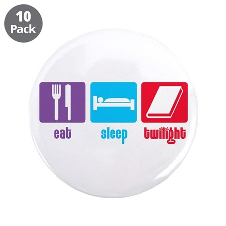 "Eat Sleep Twilight 3.5"" Button (10 pack)"