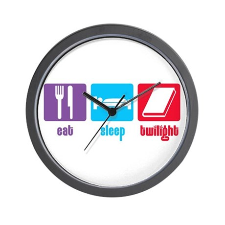 Eat Sleep Twilight Wall Clock