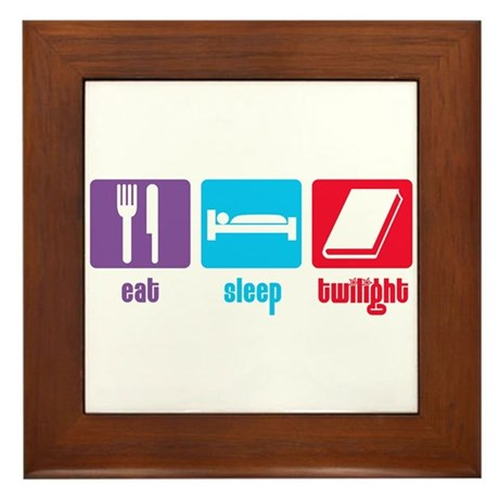 Eat Sleep Twilight Framed Tile