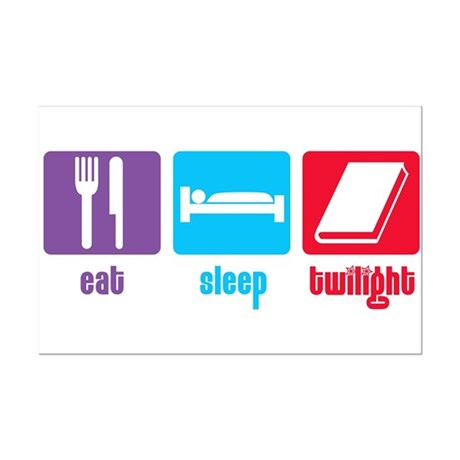 Eat Sleep Twilight Mini Poster Print