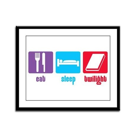 Eat Sleep Twilight Framed Panel Print