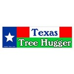 Texas Tree Hugger Bumper Sticker