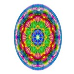 Bright Kaleidoscope Oval Ornament