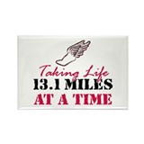 Taking Life 13.1 miles Rectangle Magnet (10 pack)