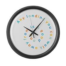 Any Landing Large Wall Clock