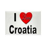 I Love Croatia Rectangle Magnet (10 pack)