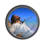 LOVE GOD BACK Wall Clock