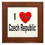 I Love Czech Republic Framed Tile