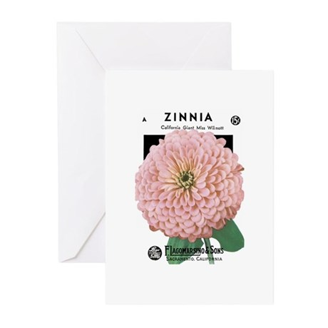 Zinnia Greeting Cards (Pk of 10)