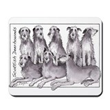 Unique Scottish deerhounds Mousepad
