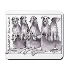 Funny Scottish deerhound Mousepad
