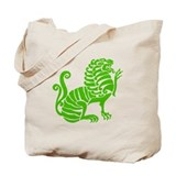 Green Griffin Tote Bag