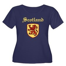 Scotland Women's Plus Size Scoop Neck Dark T-Shirt