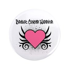 "BreastCancerWarrior Tattoo 3.5"" Button"