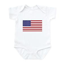 American Flag Infant Creeper