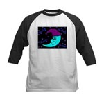 Sleepy Moonlight Kids Baseball Jersey