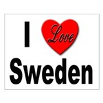 I Love Sweden Small Poster