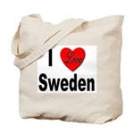 I Love Sweden Tote Bag