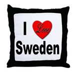 I Love Sweden Throw Pillow